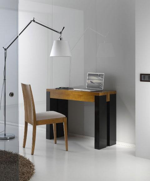 Consola mesa extensible cerezo no disponible en - Mesa escritorio extensible ...