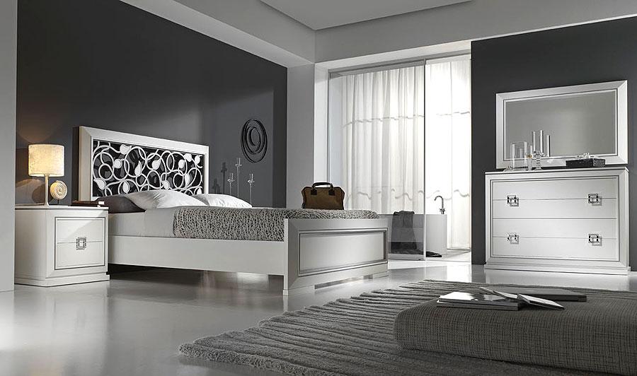 Cabecero calado en blanco y plata para cama de 150 cms no for Dormitorio wengue y plata