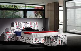 Dormitorio London Piel