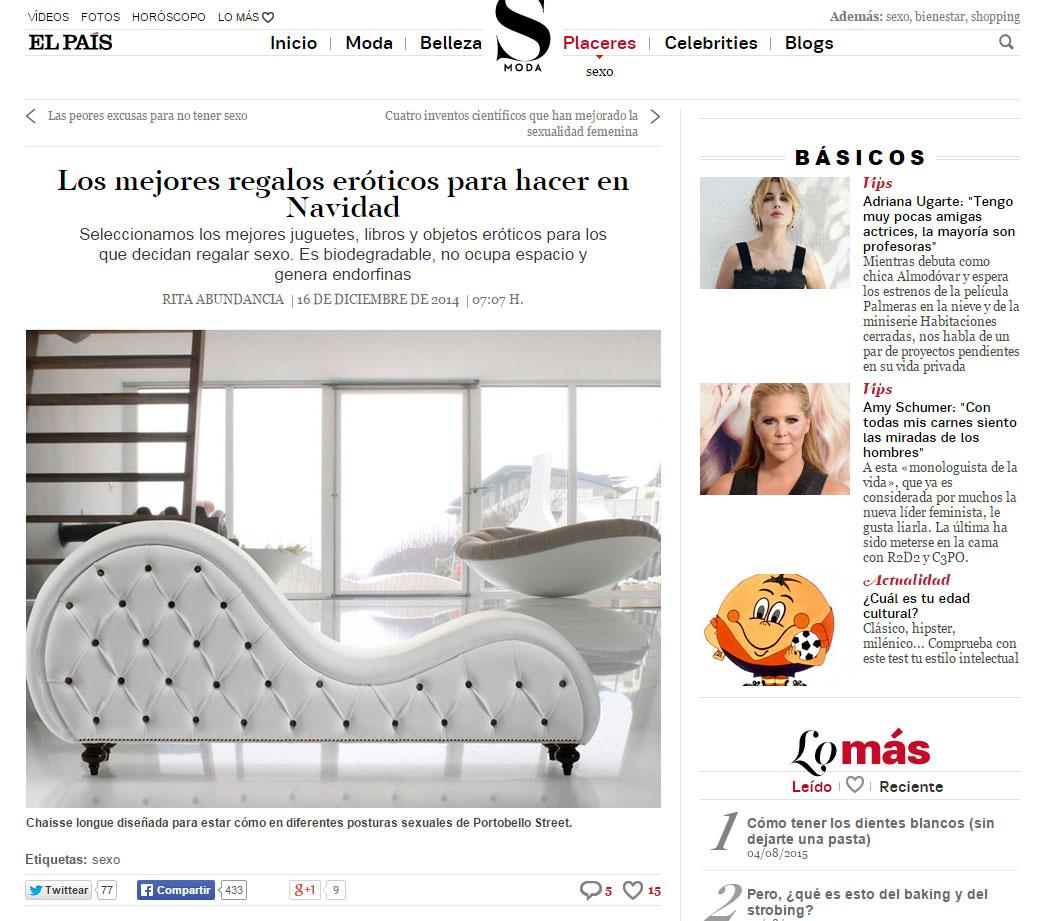 El País. Los mejores regalos eróticos para hacer en Navidad