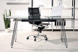 Mesa despacho cromada Moderna Dove