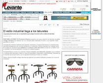 El estilo industrial llega a los taburetes con Portobello - Abril 2015