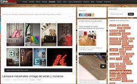 L�mparas industrial vintage de letras y numeros con Portobello - Diciembre 2014