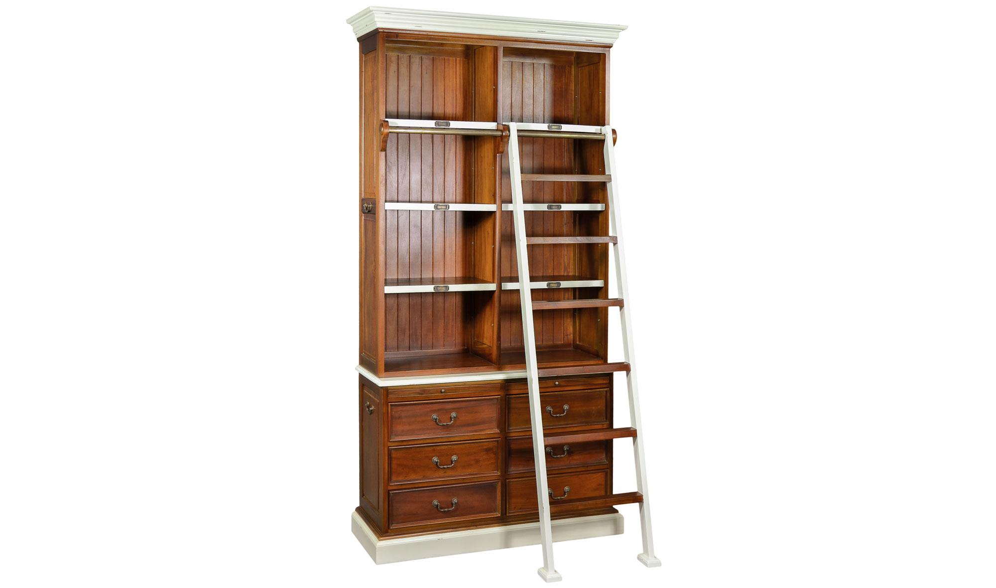 Librera con escalera vintage Poitier en Portobellostreetes
