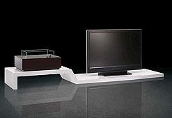 Mueble de tv con chimenea Lock