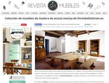 Colecci�n de muebles de acacia maciza de Portobello - Octubre 2015