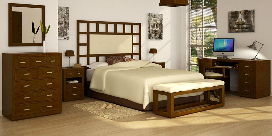Dormitorio tapizado colonial manhattan en - Baules tapizados dormitorio ...