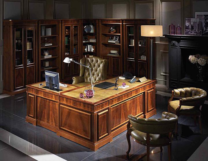 Mesa de despacho clasica domotica en cosas de for Mobiliario para despachos
