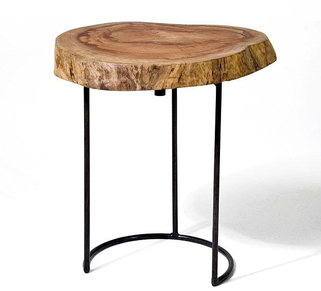 Mesa auxiliar tronco i no disponible en - Mesas de troncos de madera ...