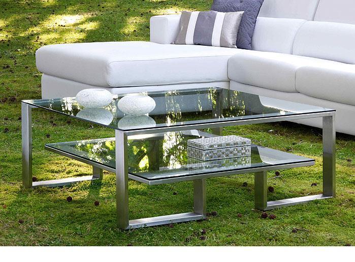 Mesa de centro de cristal en forma de caracol mesas de - Mesas de centro de cristal ...