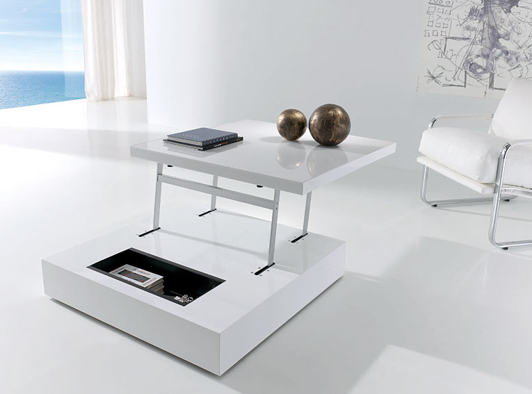 Mesa de centro elevable raf con led no disponible en for Mesas de salon modernas extensibles
