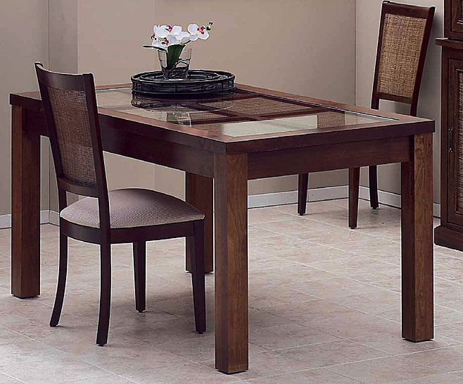 Mesa de comedor extensible rafia no disponible en for Mesas de comedor extensibles