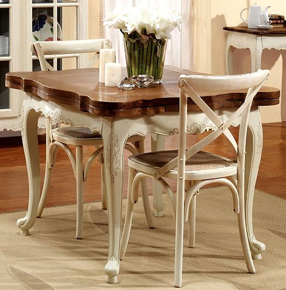 Mesa comedor extensible cuadrada vintage nantes en for Muebles de comedor mesas