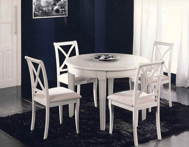 Mesa de comedor extensible redonda colonial gur no - Mesa redonda de comedor extensible ...