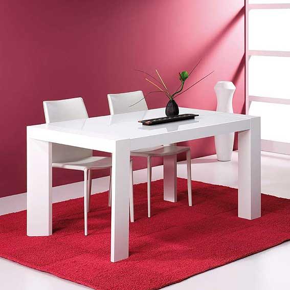 Mesas de comedor blancas best mesa comedor blanca midi outlet with mesas de comedor blancas - Mesa blanca comedor ...