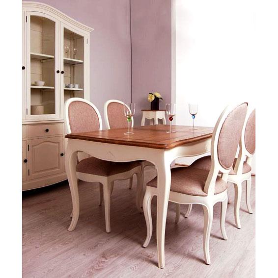 Mesa de comedor extensible bicolor vintage par s en for Comedor redondo extensible