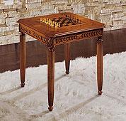 Mesa de juego con tablero de ajedrez