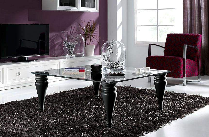 Mesa de centro cristal 100x100 pen lope de lujo en for Muebles eroticos