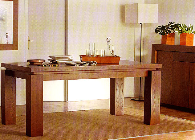 Mesa de comedor extensible colonial zen no disponible en for Mesas para comedor
