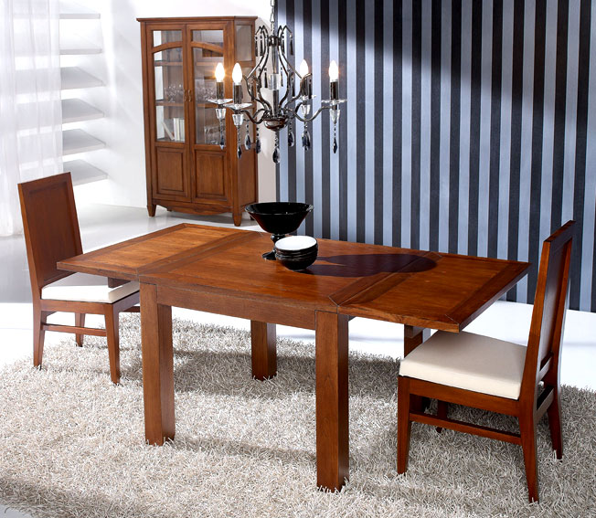 Mesa de comedor extensible por alas Colonial Sunkai no disponible en ...
