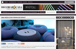 Mesa con forma de Donut con Portobello en decorarunacasa.es - Abril 2014