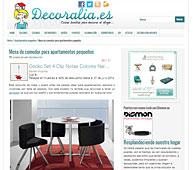 Mesa de comedor para apartamentos peque�os en decoralia.es - Mayo 2014
