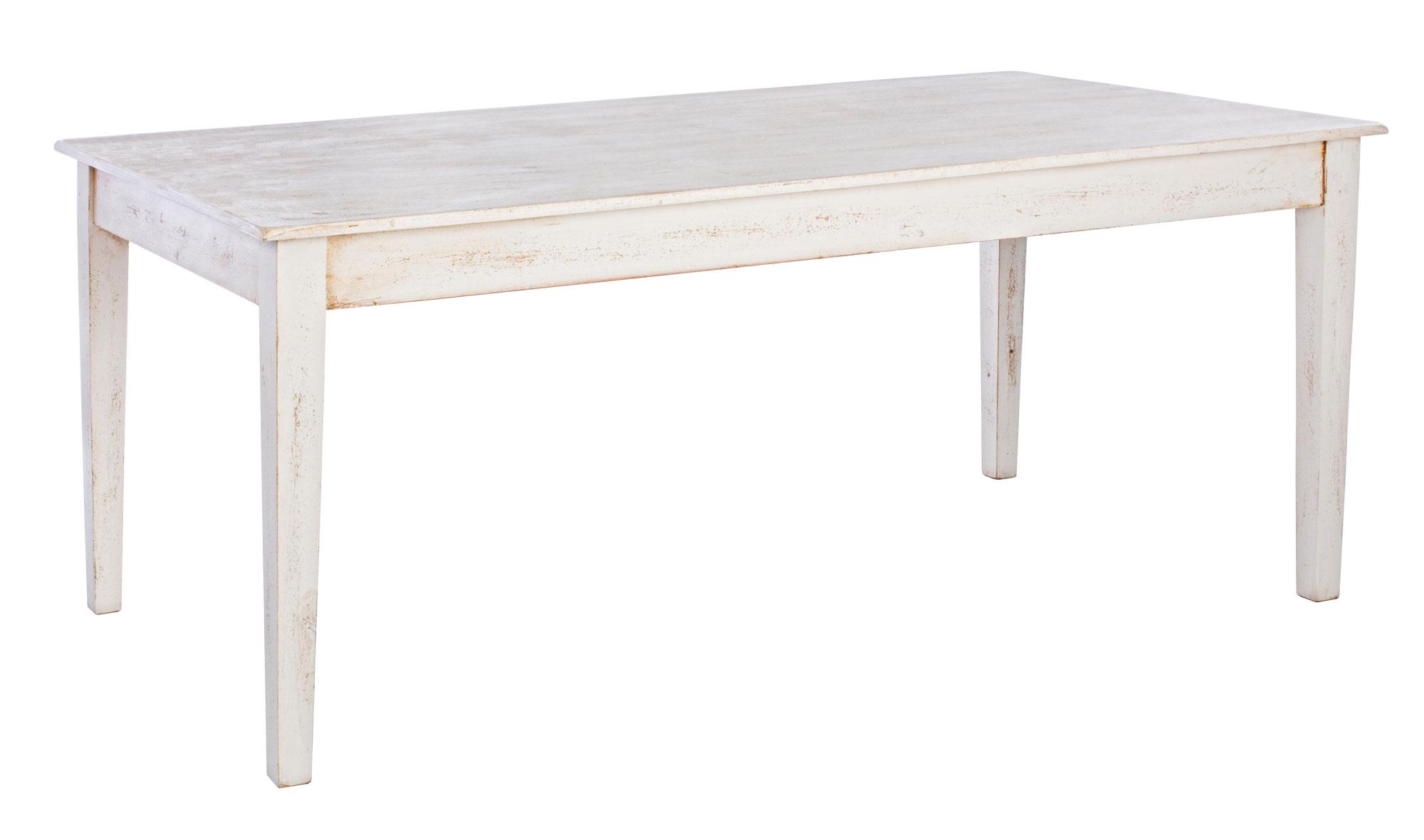 Mesa de comedor blanca vintage alghero no disponible en for Mesa comedor ovalada blanca