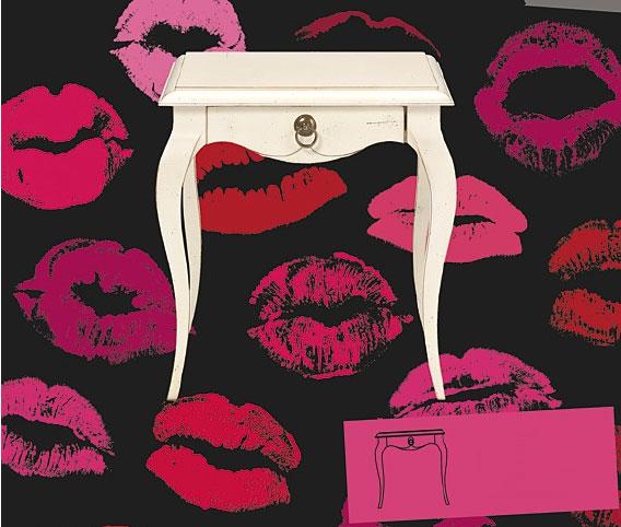 Mesa de noche 1 cajón vintage Lara Cool