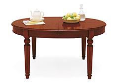 Mesa de Comedor Madera de comedor de manivela oval extensible clásica Victoriana