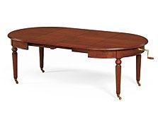 Mesa de comedor clásica redonda extensible