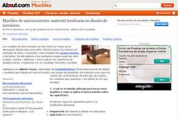 Muebles de microcemento con Portobello en muebles.about.com - Mayo 2014