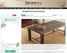 Mesas de microcemento con Portobello en decorablog.com - Mayo 2014