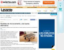 Muebles de microcemento con Portobello en levante-emv.com - Mayo 2014