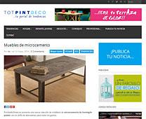 Muebles de microcemento con Portobello en blogtotpint.com - Mayo 2014