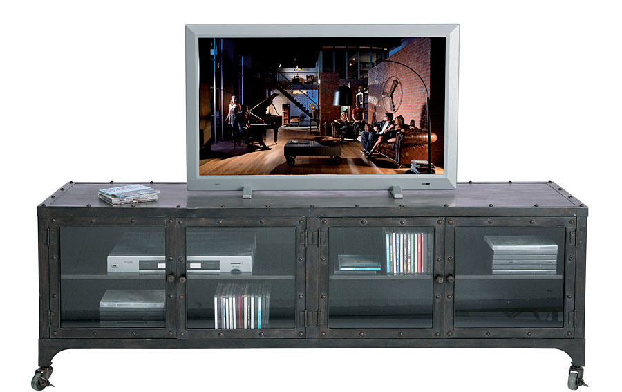 mueble tv metal y cristal no disponible en. Black Bedroom Furniture Sets. Home Design Ideas