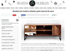 Muebles de madera tallada y piel natural de vaca con Portobello - Marzo 2015