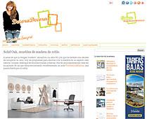 Muebles de madera de roble con Portobello en decoradecora.blogspot.com.es - Julio 2014