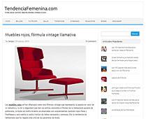 Muebles rojos con Portobello en tendenciafemenina.com - Marzo 2014