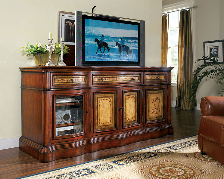 Mueble tv plasma lifter con levacion electrica clasico no ...
