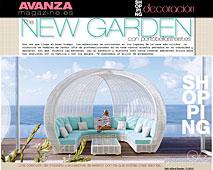 New Garden con Portobello en avanzamagazine.es - Abril 2014