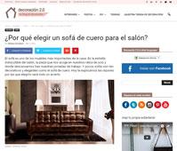 �Por qu� elegir un sof� de cuero para el sal�n? con Portobello - Marzo 2016