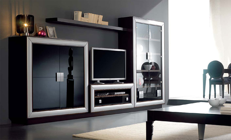 Vitrina y mueble tv berl n no disponible en for Vitrinas modernas para salon