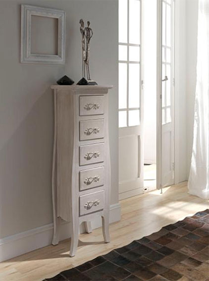 Chiffonier decap cuore estrecho no disponible en for Mueble zapatero alto estrecho