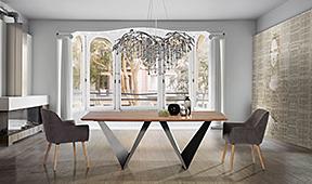 Mesas de comedor y sillas de diseño italiano en ...