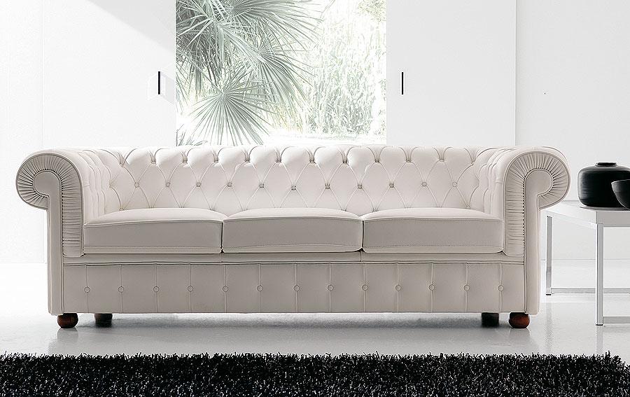 Sofa chester en piel flor blanca no disponible en for Sofa tipo chester barato