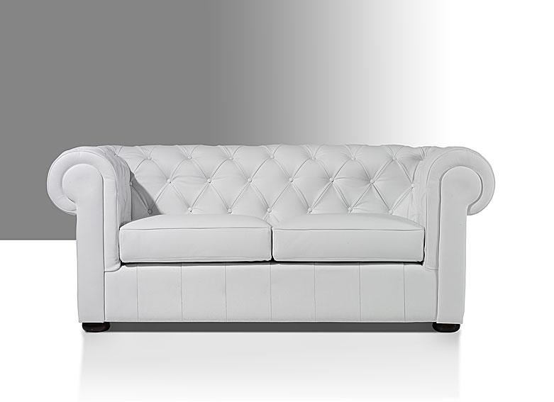 Sof lord chester piel capiton blanco no disponible en - Sofa cuero blanco ...
