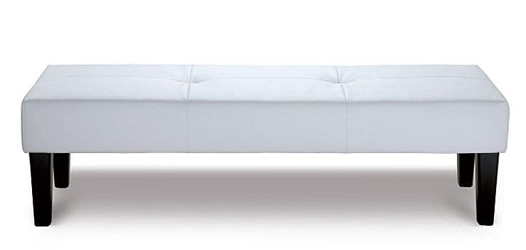 Pie de cama de piel bali no disponible en for Taburete pie de cama