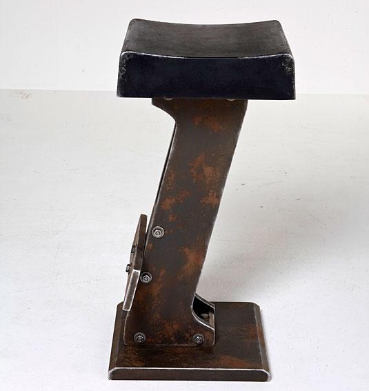 Taburete alto negro Vintage Tecla