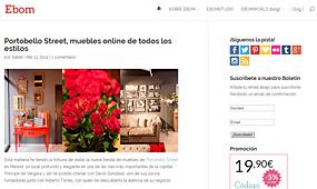 Tienda nueva de PortobelloStreet en ebom.es - Febrero 2014