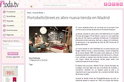 Tienda nueva de PortobelloStreet en boda.tv - Febrero 2014
